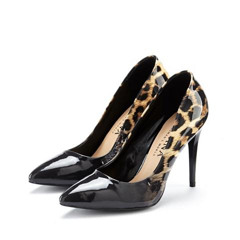 LASCANA High-Heel-Pumps su Leo-Print ir Lackle...