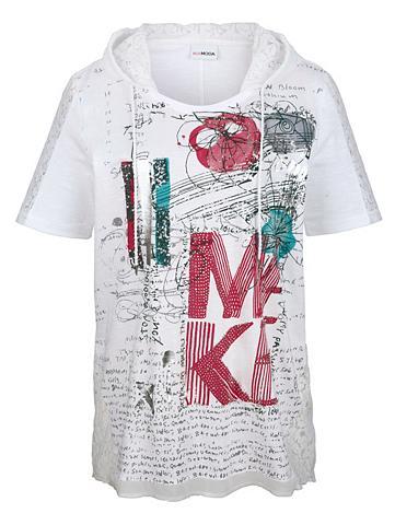 MIAMODA Marškinėliai su gobtuvas