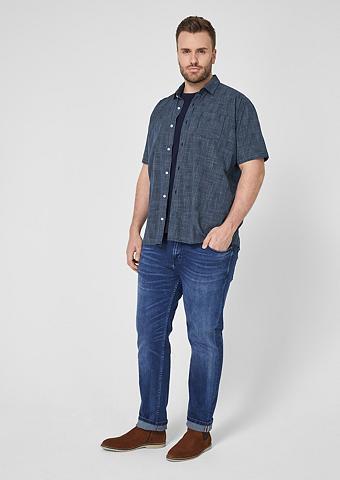S.OLIVER Regular: Marškiniai su Gitterkaros