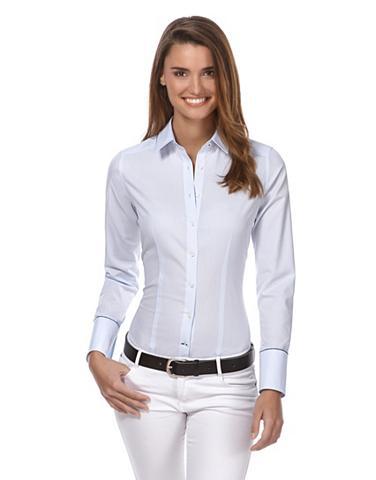 VINCENZO BORETTI Business-Bluse in bügelleichter kokybi...