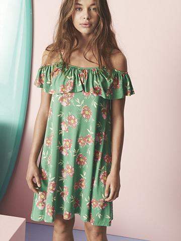 NAME IT Gėlių raštu apnuoginanti pečius suknel...