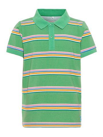 NAME IT Dryžuota Polo marškinėliai