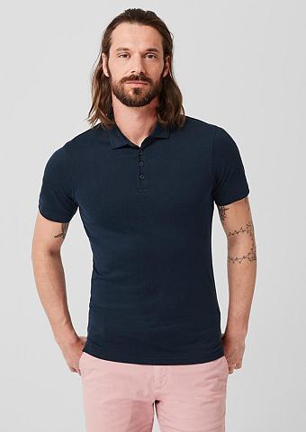 S.OLIVER BLACK LABEL Polo marškinėliai iš neįkyrus trikotaž...