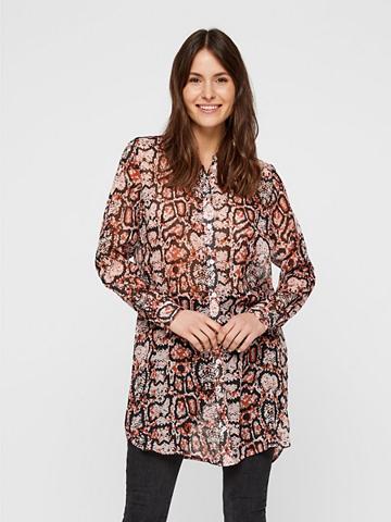 PIECES Schlangenprint Longline Marškiniai