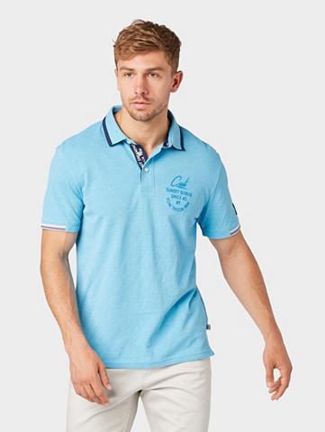 TOM TAILOR Marškinėliai »Poloshirt in Melange-Opt...