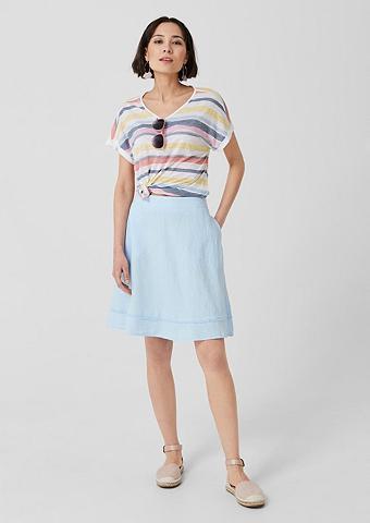 S.OLIVER Vidutinio ilgio sijonas iš linas