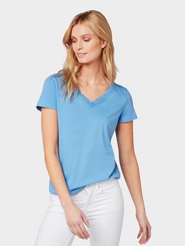 TOM TAILOR Marškinėliai Marškinėliai su Spitzende...