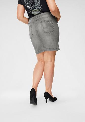 ARIZONA Džinsinis sijonas »mit sichtbarer Knop...