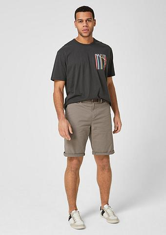 S.OLIVER Marškinėliai su Label-Print