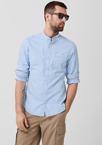 S.OLIVER Įliemenuotas: Marškiniai su stačia apy...