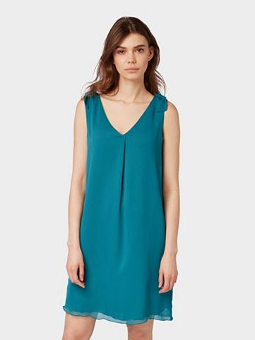 TOM TAILOR Šifoninė suknelė »Chiffon-Kleid su Kno...