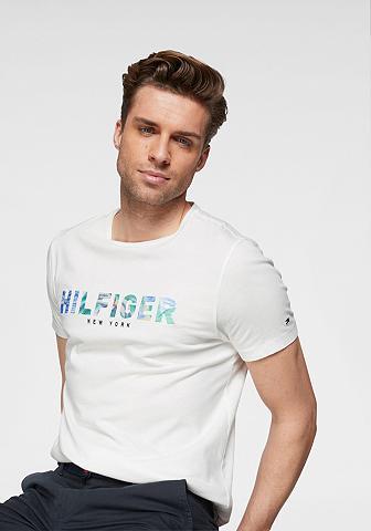 TOMMY HILFIGER Marškinėliai »HILFIGER APPLIQUE TEE«