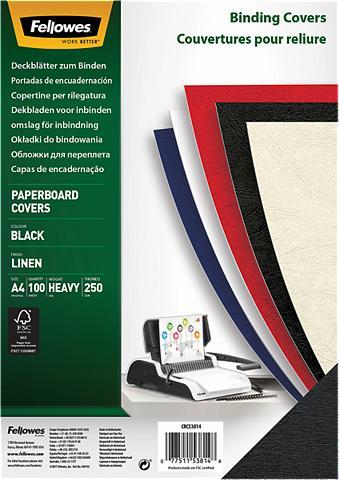 FELLOWES Deckblatt »Linen Deckblatt A4«