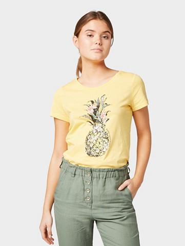TOM TAILOR Marškinėliai Marškinėliai su Ananas-Pr...