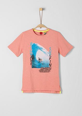 S.OLIVER JUNIOR Marškinėliai su Surfer-Print dėl Junge...