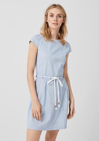 S.OLIVER Medvilninė suknelė su surišamas diržas...