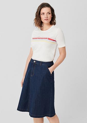 TRIANGLE Džinsinis sijonas su kišenė