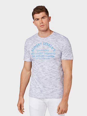 TOM TAILOR Marškinėliai Marškinėliai in Melange-O...