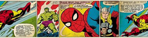 MARVEL Sieninių tapetų juosta » Action Heroes...