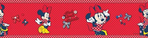 Sieninių tapetų juosta »Minnie Mouse«