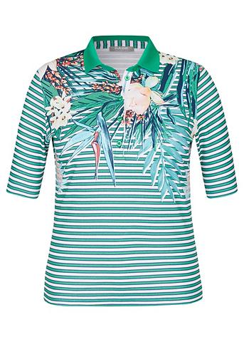 RABE Polo marškinėliai su Streifen ir gėlės...