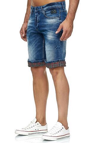 RUSTY NEAL Šortai su gekrempelten Hosenbeinen