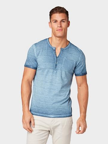 TOM TAILOR Marškinėliai »Henley-Shirt su Brusttas...