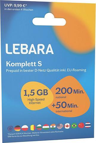 Lebara Prepaid Karte »Komplett S Tarif-Paket«...