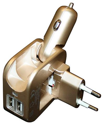 ROCCO Reisestecker »Universal-USB-Ladegerät«...