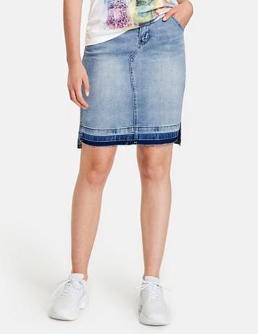 TAIFUN Sijonas G trumpa Džinsinis sijonas