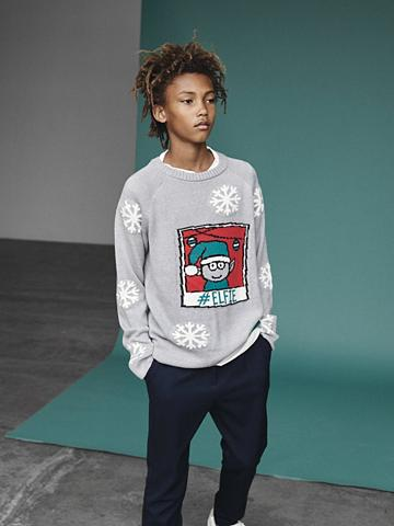 NAME IT Trikotažinis weihnachtlicher megztinis...