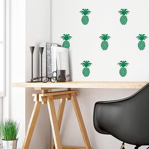 Wall-Art Wandtattoo »Ananas Set«