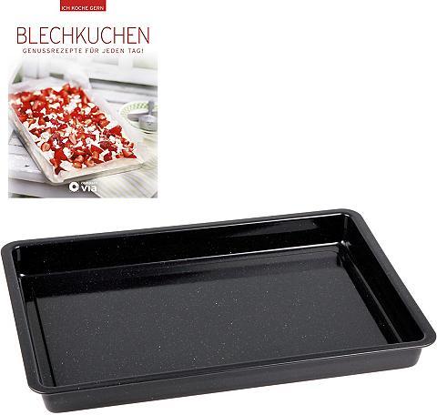 CHG Backblech Emaille (Set) ir Backbuch