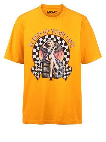 MEN PLUS BY HAPPY SIZE Marškinėliai su raštas priekyje