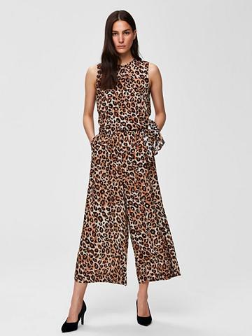 SELECTED FEMME Cropped Leoparden kombinezonas