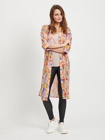 OBJECT Gėlių 3/4 ilgio rankovės kimono