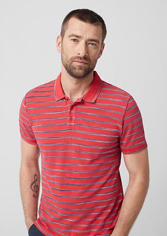 S.OLIVER Polo marškinėliai su Strukturstreifen