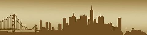 CONSALNET Fototapetas »San Francisco - Horizont«...