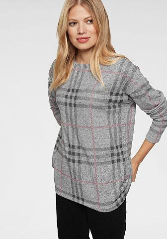 Aniston CASUAL Sportinio stiliaus megztinis im Karo- ...