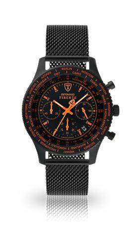 DETOMASO Chronografas- laikrodis »FIRENZE BLACK...