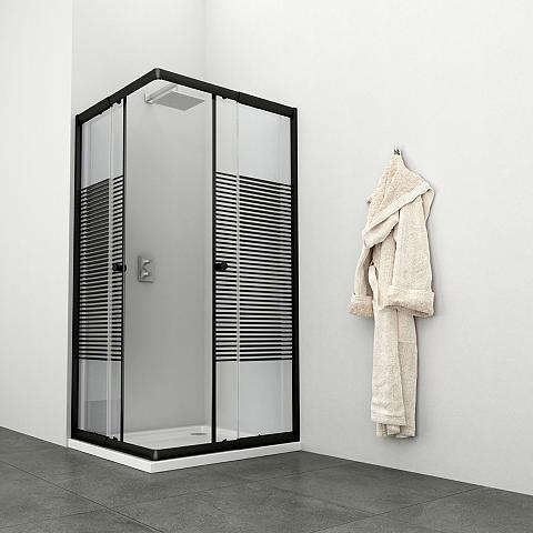 Kampinės dušo durys »Trento Black« var...