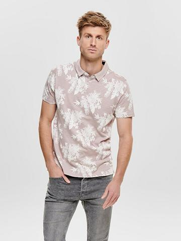 ONLY & SONS ONLY & SONS raštuotas Polo marškinėlia...