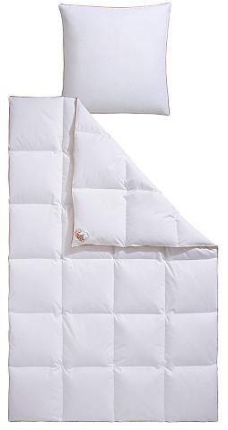 RIBECO Pūkinė antklodė + pagalvė »Ella« warm ...