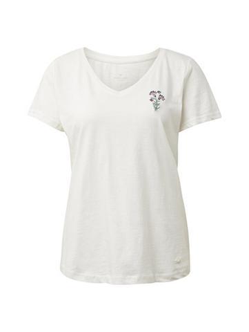 TOM TAILOR Marškinėliai Marškinėliai su Blumensti...