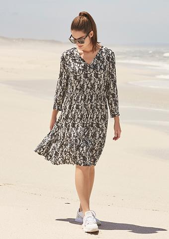 TRIANGLE Midi ilgio suknelė su Animalmuster