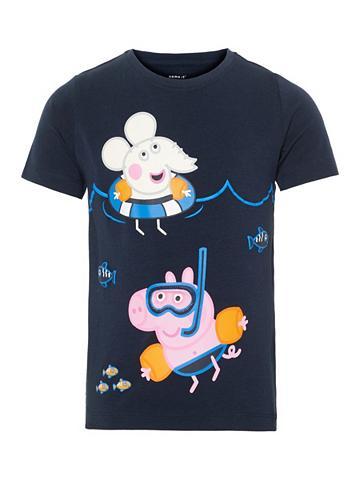 NAME IT Peppa Pig raštas Marškinėliai