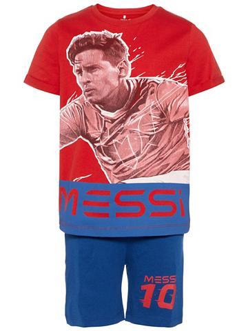 NAME IT Messi raštas Shorts-Set