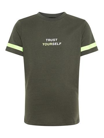NAME IT Neon raštas Marškinėliai
