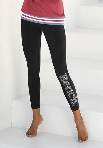 Bench. Leggings su Logodruck in Metalloptik