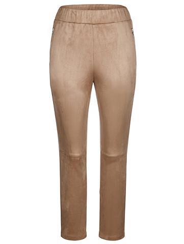 MIAMODA Dirbtinės odos kelnės iš minkštas Velo...